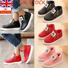 Boys Girls Kids Ankle Boots Toddler Stars Zipper PU Booties Flat Sneakers Shoes
