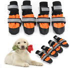 4Pcs Pet Dog Rain Snow Boots Warm Shoes Anti-slip Footwear Sock Waterproof S-XXL