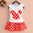 Kids Baby Girl Mickey Mouse Dress Princess Party Tunic Casual Summer Sundress