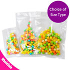 Assorted Sizes Flat-Lying High Quality Plastic Mylar Clear Zip Lock Pouch Bag M