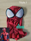 Spider-man 24 Series Mask Hoods Lycra Printing  Full Face Mask With Eyes Cosplay