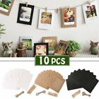 picture hanging clip - 10 Pcs / Set Paper Photo DIY Wall Picture Hanging Frame Album Rope Clip Set Home