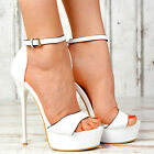 Neu Designer Damenschuhe Sexy High Heels NEON LACK Party Pumps Damen Sandalen