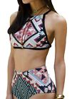 MNLYBABY High Waist Vintage Floral Women's Bikini Set Strappy Push Up Bathing...
