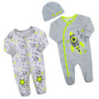 Space Design Sleepsuit Babygrow All In One Romper Bandana Bib Or  Cradle Cap