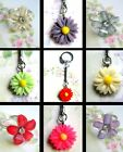 DAISY FLOWER KEYRING OR GLITTER RING RESIN ACRYLIC CUTE