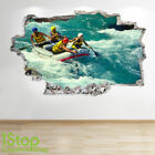 RAFTING WALL STICKER 3D LOOK - BOYS KIDS BEDROOM EXTREME SPORT WALL DECAL Z681
