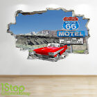 ROUTE 66 WALL STICKER 3D LOOK - BEDROOM LOUNGE NATURE WALL DECAL Z687
