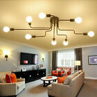 4/6/8 Way E27 Retro Ceiling Light Modern Vintage Industrial Metal Pendant Lamp