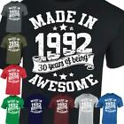 30th Birthday Gift Made In 1988 Being Awesome 30 Years Mens Ladies Casual Tshirt