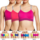 Balanced Tech 3 Pack Performance Seamless Push Up Active Athletic Sports Bra