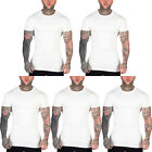 New Mens Slim Fit Longline Muscle T Shirt Plain Basic Casual Cotton Tee Top
