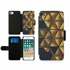 Golden Honeycombs Oil Painted Flip Book Wallet Hybrid Phone Case Cell Phone