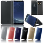 For Samsung Galaxy S6 Plus S6 S7 Edge Touch Mirror View Magnet Stand Case Cover