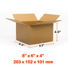 8x6x4 Inches Single Wall Brown Corrugated Cardboard Postal Mailing Boxes