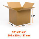 12x9x5 inches Single Wall Brown Corrugated Cardboard Postal Mailing Boxes Cheap