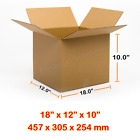 18x12x10 Inches Single Wall Brown Corrugated Cardboard Postal Box 18