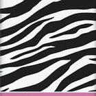 Zebra Passion Stripes Party Plastic Party Table Cover Tablecloth   Animal   Pink