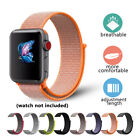 Nylon Woven Sport Loop Bracelet Watch Band Strap For Apple iWatch 38mm 42mm