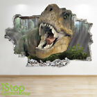 Dinosaur Wall Sticker 3d Look - Bedroom Lounge Nature Animal Wall Decal Z722