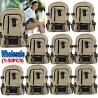 LOT Vintage Canvas Backpack Rucksack School Bag Travel Camping Shoulder Bag OY