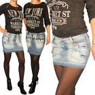 Damen Jeans Rock kurz Sommer in 2 Modellen by Sationela