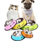 Cute Stainless Steel Pet Dog Bowls Food Kitten Feeder Puppy Cat Drinking Tools