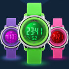 Child Boy Girl Waterproof LED Alarm Sport Electronic Digital Wrist Watch Gift US image