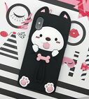 iPhone Phone Case 3D Cute Puppy,Bear,Cat Friends Cartoon Gel Silicone Soft Case