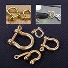 New 2PCS S/M/L/XL Brass D Shackle Joint Clasp for Keyring Key Belt Loop Fastener