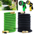 Deluxe 25 50 100FT Feet Expandable Flexible Garden Water Hose w/ Spray Nozzle US