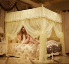Palace canopy mosquito net bed netting bed curtain valance stainless steel frame image