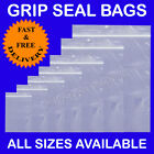 Grip Seal Clear Plastic Bags SIZES IN INCHES Cheapest with Free Quick Delivery!!
