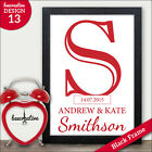 Personalised Couples Surname Gift Print Wedding Anniversary Gifts For Couples