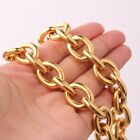 """Hot Sell Mens Hip Hop Gold Stainless Steel Strong Rolo Necklace Chain 18""""-40"""""""