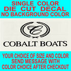 Cobalt Boats Die Cut Vinyl Decal Truck Window Boat Sticker Reproduction