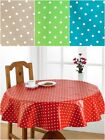 Waterproof Table Cloths PVC Polka Dot Design Tablecloth Easily Wipes Clean