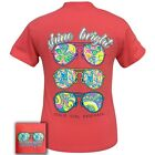 Girlie Girl SHINE BRIGHT Coral A Classic Short Sleeves Cotton T-Shirts