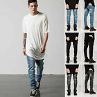 Classic Men's Slim Fit Straight Biker Jeans Trousers Casual Fashion Pants New