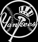 NEW YORK YANKEES RETRO LOGO CAR DECAL VINYL STICKER WHITE 3 SIZES on Ebay