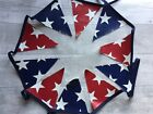 Outdoor Bunting Waterproof Oilcloth Handmade Red Star Blue Stars American