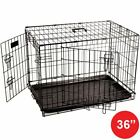 Pet Cages Metal Dog Cat Puppy Training Folding Crate Animal Transport With Tray