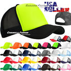 Внешний вид - Trucker Hat Baseball Cap Mesh Caps Blank Plain Hats Foam Visor Colors Men Women