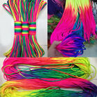 100/300ft Rainbow 550 Paracord Rope 7 Strands Parachute Cord Camping Hiking Hot