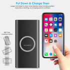 10000mAh Power Bank Qi Wireless Fast Charging USB Portable LED Battery Charger