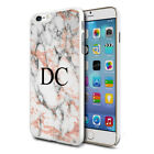 Personalised Marble Phone Case Cover for Apple Samsung Initial Text Name - 03