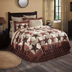 ABILENE STAR QUILT SET - choose size & accessories - Rustic Plaid VHC Brands image