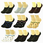 12 Pairs Lot Women Ankle Invisible No Show Nonslip Loafer Boat Liner Cotton Sock