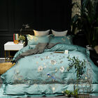 high quality embroidered bedding set pure cotton soft duvet cover bed sheet king image