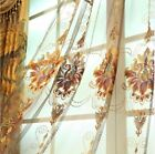Luxury Blackout Curtains For Living Room Flowers embroidery